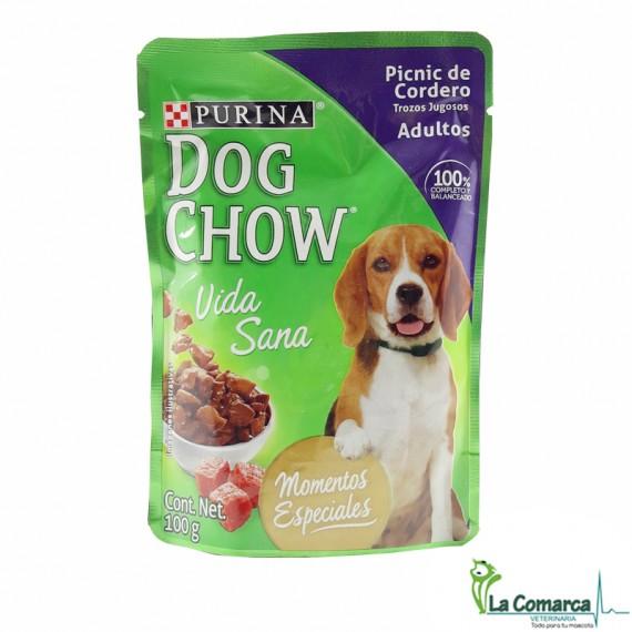 DOG CHOW VIDA SANA ADULTOS PICNIC DE CORDERO x 100 grs